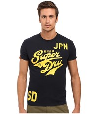 Superdry Stacker Entry Tee Eclipse Navy Men's T Shirt