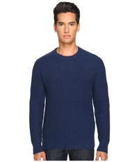 Jack Spade Shaker Stitch Ribbed Crew Neck Sweater Dark Blue Men's Sweater