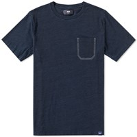 Wood Wood Clarence Pocket Tee Blue
