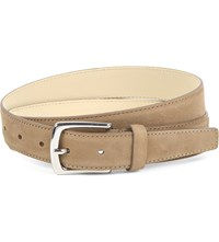 Reiss Kurzwell Suede Belt Taupe