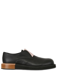 Mobi Two Tone Elastic Leather Derby Shoes Black