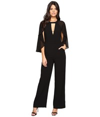 Adelyn Rae Jumpsuit With Cape Black Women's Jumpsuit And Rompers One Piece