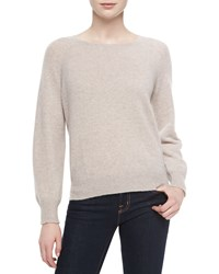 Christopher Fischer Cashmere Tammy Easy Crewneck Sweater Navy