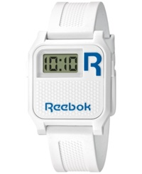 Reebok Women's Digital Vintage Nerd White Polyurethane Strap Watch 35Mm Rc Vne U9 Pwpw Wl