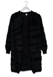 Saint Tropez Zebra Hairy Cardigan Black