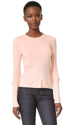 Salvatore Ferragamo Button Sleeve Sweater Rose