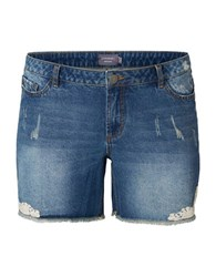 Junarose Cut Off Denim Shorts Blue