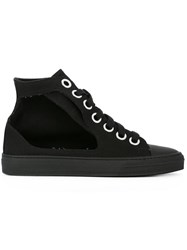 Ports 1961 Hi Top Cut Out Sneakers Black