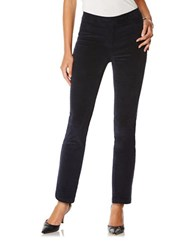 Rafaella Petite Stretch Corduroy Ankle Pants Navy