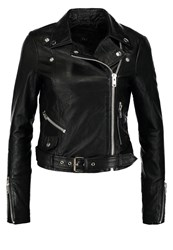 Y.A.S Yas Yasash Leather Jacket Black