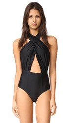 6 Shore Road Cabana One Piece Black Rock