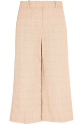 J.Crew Collection Plaid Linen And Cotton Blend Culottes Off White