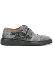 Weber Hodel Feder Palm Tree Print Loafers Grey