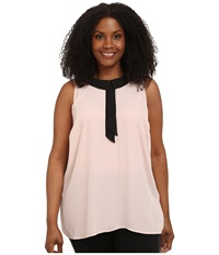 Vince Camuto Plus Plus Size Sleeveless Collared Blouse Rose Dusk Women's Blouse Pink