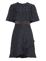 Prabal Gurung Textured Jacquard Ruffle Dress
