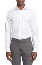 Men's Armani Collezioni Slim Fit Twill Dress Shirt White