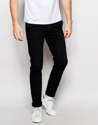 Only And Sons Chinos In Skinny Fit Black