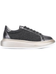 Brunello Cucinelli Classic Lace Up Sneakers Grey