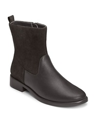 Aerosoles Make A Wish Faux Leather Booties Black Combo