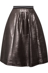 Markus Lupfer Alicia Lam And Eacute Skirt Metallic