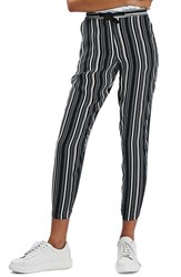 Topshop Women's Stripe Tapered Slouch Pants