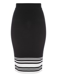Jane Norman Striped Co Ord Jersey Pencil Skirt Black White