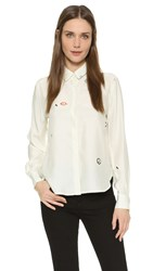 Veda Springs Blouse Elements White