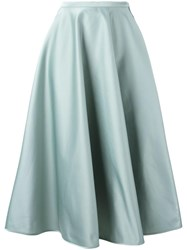 N 21 No21 Pleated A Line Skirt Green