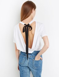 Pixie Market Ribbon Tie Back Tee By New Revival