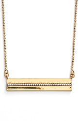 Rachel Zoe 'Alana' Bar Pendant Necklace Gold