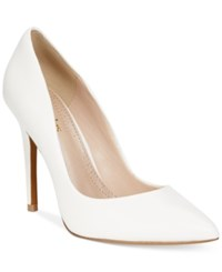 Charles By Charles David Pact Leather Pumps Women's Shoes White