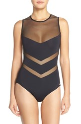 Women's Vince Camuto 'Luxe Mesh Solids' One Piece Swimsuit