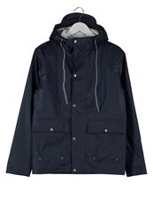 Knowledge Cotton Apparel Waterproof Jacket Blue
