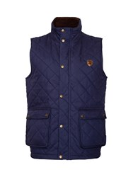 Raging Bull Quilted Full Zip Gilet Navy
