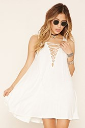 Forever 21 Lace Up Flared Mini Dress