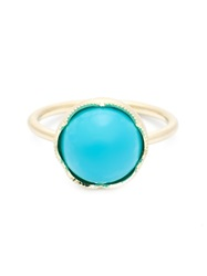 Irene Neuwirth Round Turquoise Ring Blue