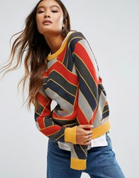 Shae Sonya Zig Zag Stripe Sweater Multi