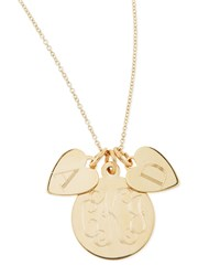Sonya Layered Letter And Monogram Necklace Gold Sarah Chloe