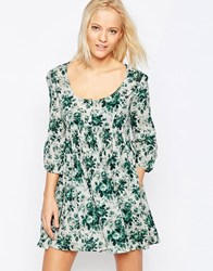 Denim And Supply Ralph Lauren By 3 4 Sleeve Babydoll Dress In Mason Floral Mason Floral Multi