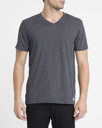 Element Charcoal Basic V Neck T Shirt Grey