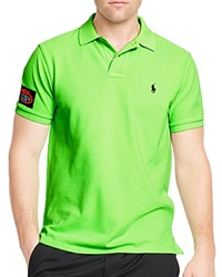 Polo Ralph Lauren Us Open Custom Fit Big Pony Neon Slim Fit Polo Shirt Flourescent Green