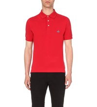 Vivienne Westwood Branded Cotton Pique Polo Shirt Red