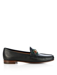 Gucci Horsebit And Web Leather Loafers