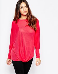 Wal G Top With Drape Front Pink