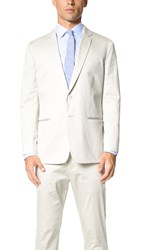 Vince Cotton Sateen Unconstructed Jacket Stone