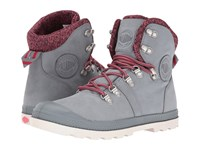 Palladium Pallabrouse Hikr Lp Monument Coral Marshmallow Women's Lace Up Casual Shoes Gray