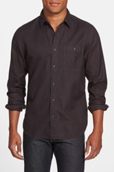 Wallin And Bros Trim Fit Twill Utility Shirt Black