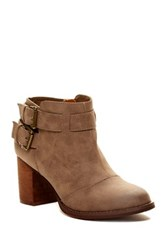 Restricted Carson Buckle Bootie Brown