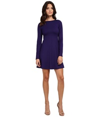 Amanda Uprichard Long Sleeve Pan Am Dress Indigo Women's Dress Blue