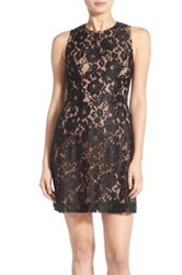 French Connection 'Heartbreaker' Lace Sheath Dress Black